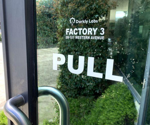 Door Sign front